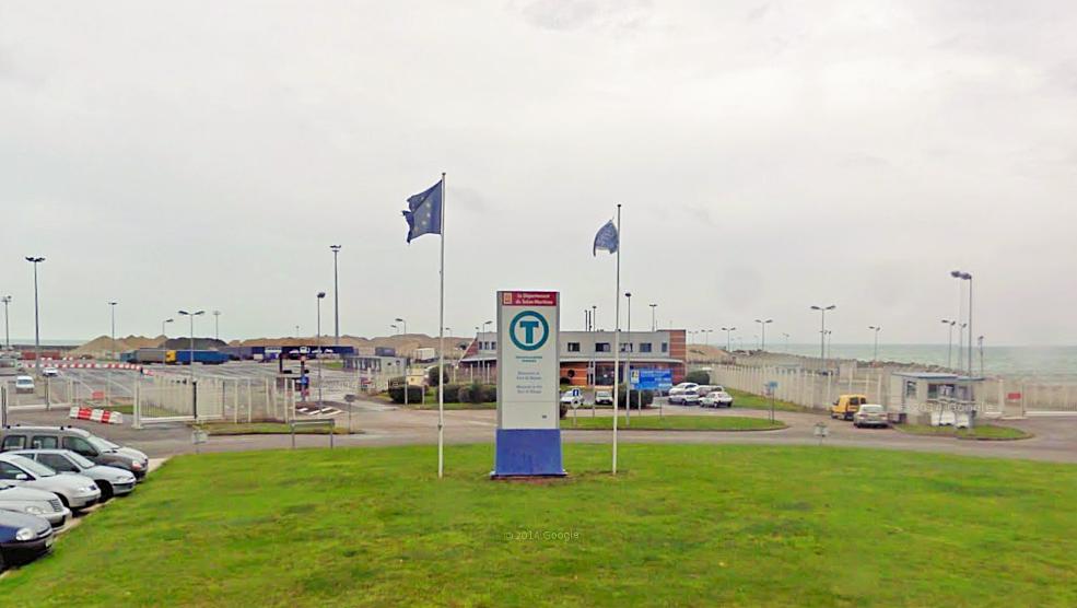 Gare Transmanche, à Dieppe : le camion polonais a été contrôlé avant son embarquement par la douane (Photo d'illustration)