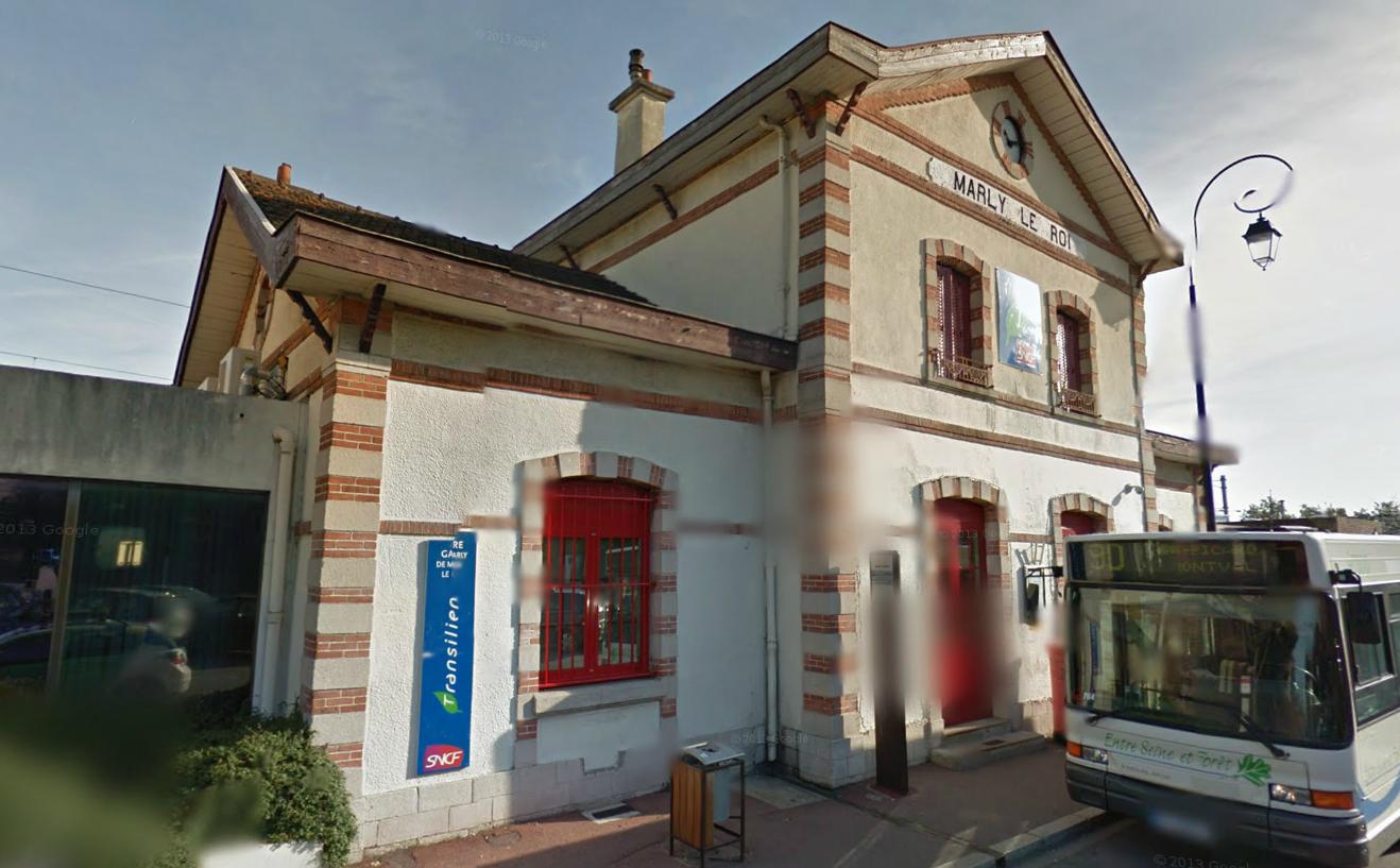 L'incident s'est produit en gare de Marly-le-Roi, alors que le train ciculait à très faible vitesse (Photo d'illustration)