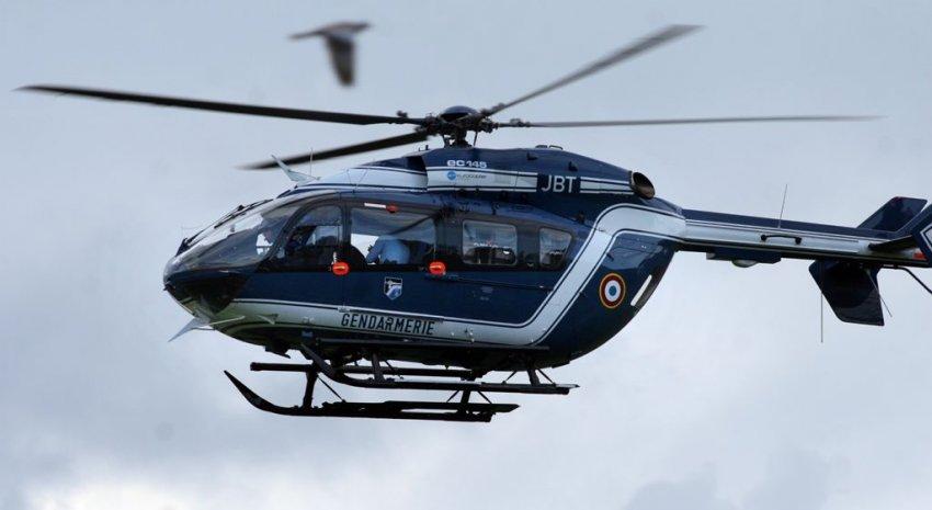 L'hélicoptère de la gendarmerie a survolé pendant une heure le secteur de Auffay, en vain (Photo d'illustration)