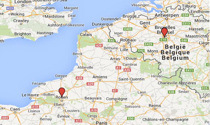 L'adolescente a été retrouvée à Forest Vorst, au sud de Bruxelles, à 350 kilomètres de Rouen