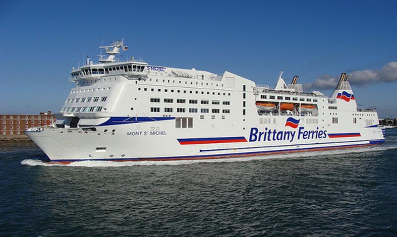 La passagère qui avait embarqué hier soir à Portsmouth sur le ferry Mont-Saint-Michel manquait à l'appel en arrivant ce matin à Ouistreham (Photo DR)