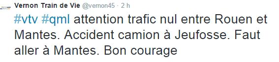 Collision entre un train et un poids-lourd près de Bonnières : tous les trains sont bloqués ce matin