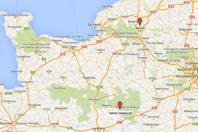 Les adolescents fugueurs ont parcouru plus de 150 kilomètres pour rallier Rouen à bord de la voiture volée au centre éducatif fermé de Sainte-Gauburge, dans l'Orne