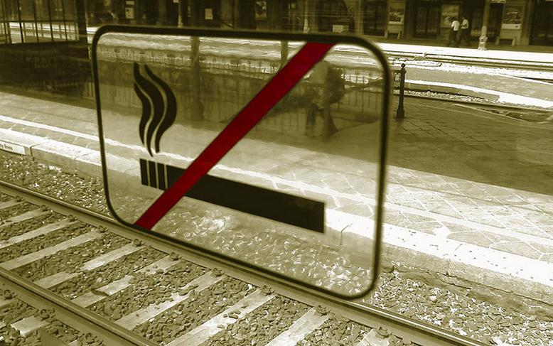 Le jeune fumeur a attendu la descente du train pour se venger (Photo d'illustration)