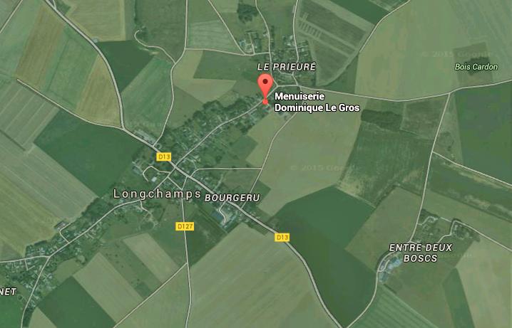 Lonchamps se situe au nord d'Etrepagny (Eure) @capture d'écran Google