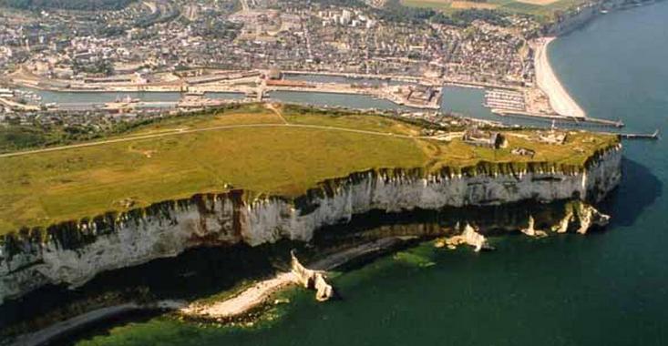 La falaise de la Vierge au nord-est de Fécamp (photo d'illustration @DR)