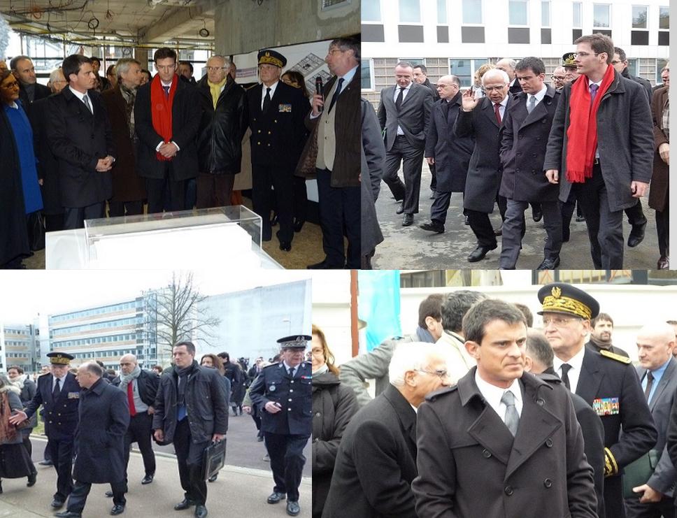 Le Premier ministre en Normandie : tous derrière Manuel Valls...