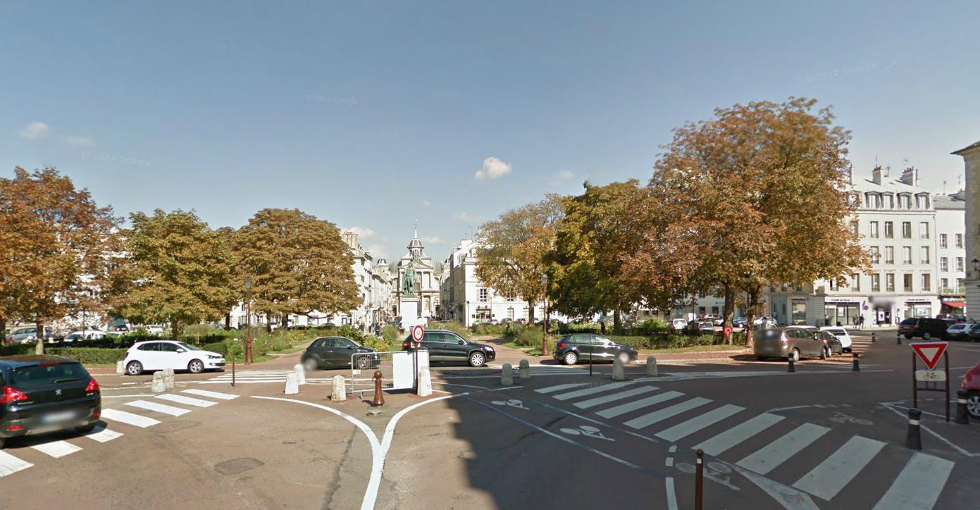 Place Hoche, à Versailles, où s'est produit l'accident (Photo d'illustration)