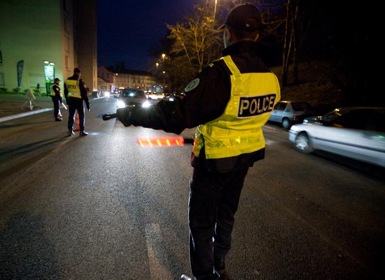 Photo d'illustration d'un contrôle routier (@DGPN)