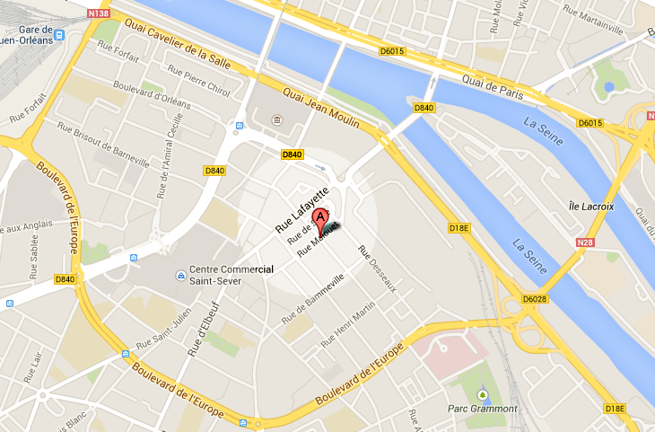 Branlebas de combat dans un quartier de Rouen après la rupture d'une canalisation d'eau