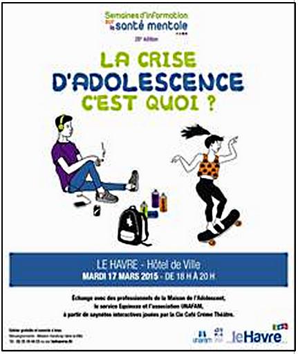 """Le Havre : """"Etre ado aujourd'hui"""", thème d'une semaine d'information sur la santé mentale"""