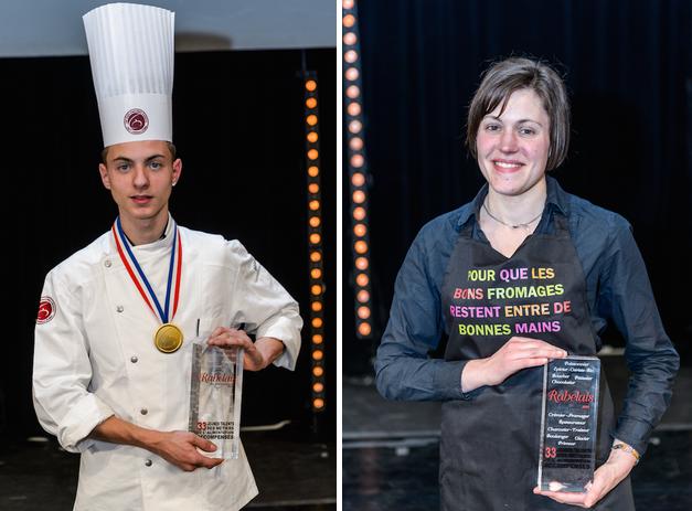 Les deux lauréats : Kevin Besnard et Annabelle Leplé (Photo @DR)