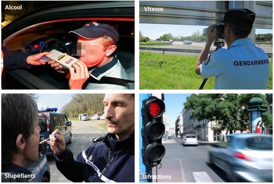 Alcool, stupéfiants, vitesse et infractions graves au code de la route sont en cause dans la majorité des accidents (Photomontage @infoNormandie.com)