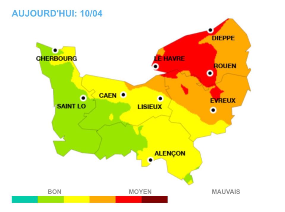 Pollution de l'air : ça continue aujourd'hui vendredi en Haute-Normandie