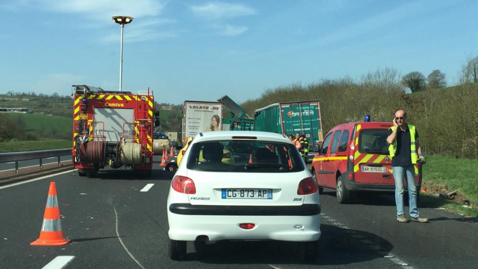 L'accident s'est produit au kilomètre 208+500