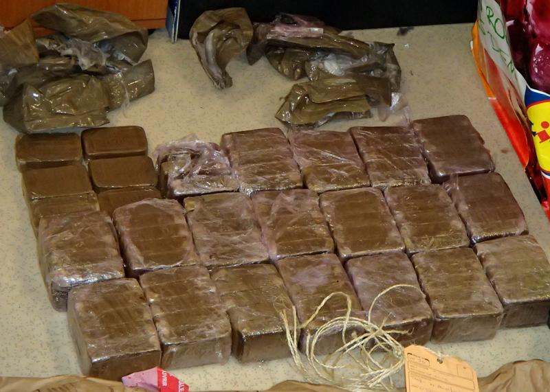 Les 10 kg de résine de cannabis étaient conditionnés en vue d'être revendus (Photo : DDSP78)