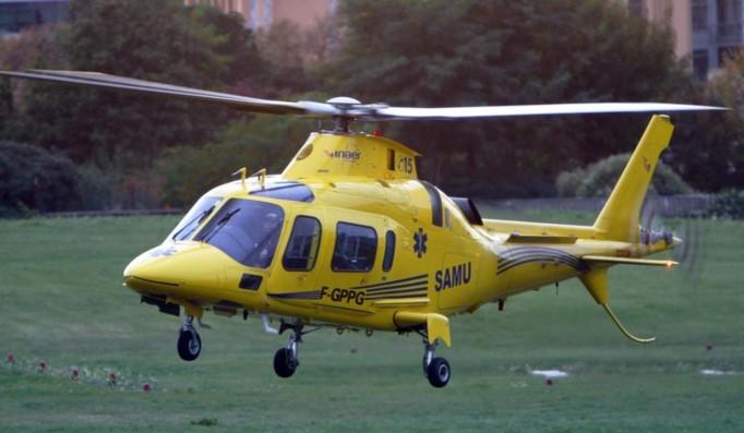 La victime a été évacuée par l'hélicoptère du SAMU de Rouen ( Photo DR)