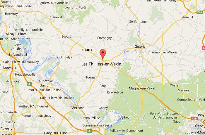 Eure : la D6014 coupée dans les deux sens à Les Thilliers-en-Vexin
