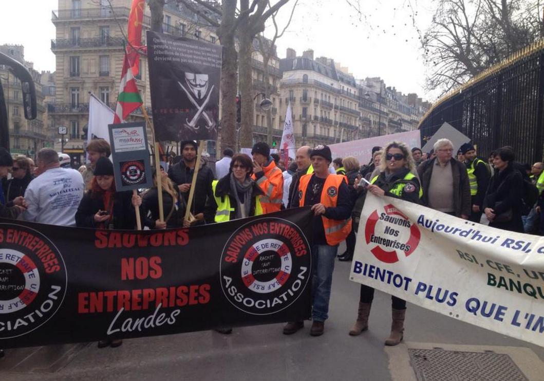 Lors de la manifestation du 9 mars dernier à Paris (Photo @Association Sauvons nos entreprises)