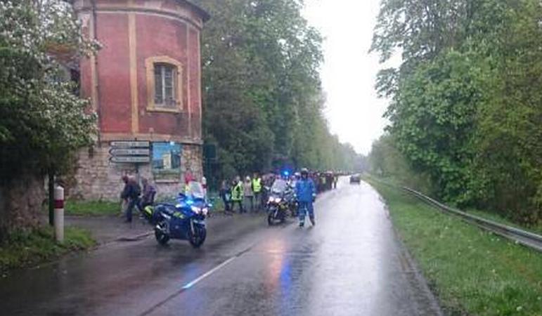 Plus de 500 personnes ont participé ce dimanche après-midi, sous l'autorité de la gendarmerie, à une battue dans la forêt toute proche de l'Isle Adam (Photo Gendarmerie/Facebook)