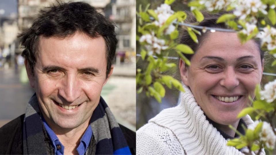 Claude Taleb et Perrine Hervé-Gruyère  sont respectivement tête de liste pour la Seine-Maritime et pour l'Eure (photo @EELV)