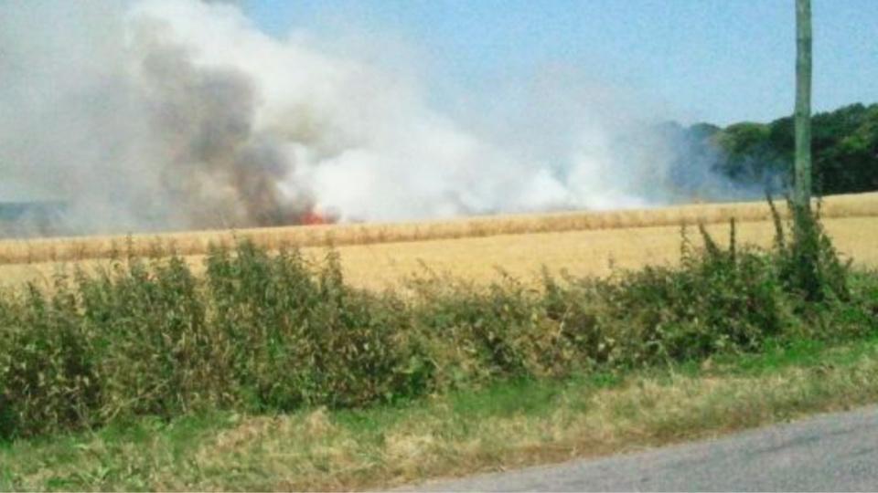 Sécheresse : 220 ha de récoltes, de sous-bois et de chaume détruits par le feu en 2 jours dans l'Eure
