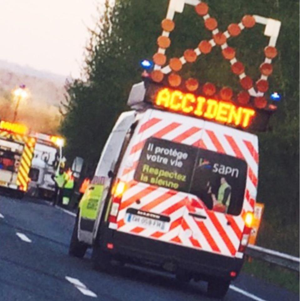 Accident sur l'A184 dans la Manche