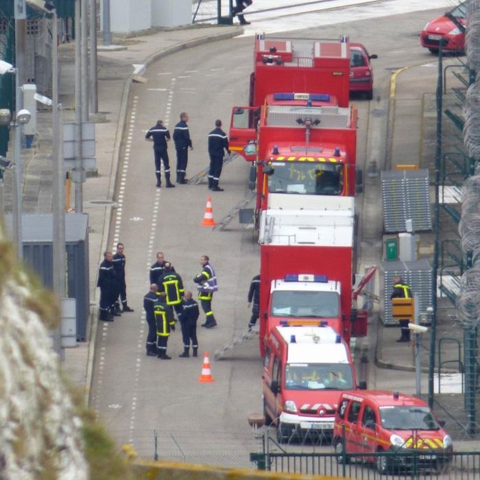 Plus de 70 sapeurs-pompiers de Seine-Maritime ont été mobilisés sur le début d'incendie à la centrale de Paluel (Photo d'illustration - @DR - d'un exercice de secours à la centrale de Penly.