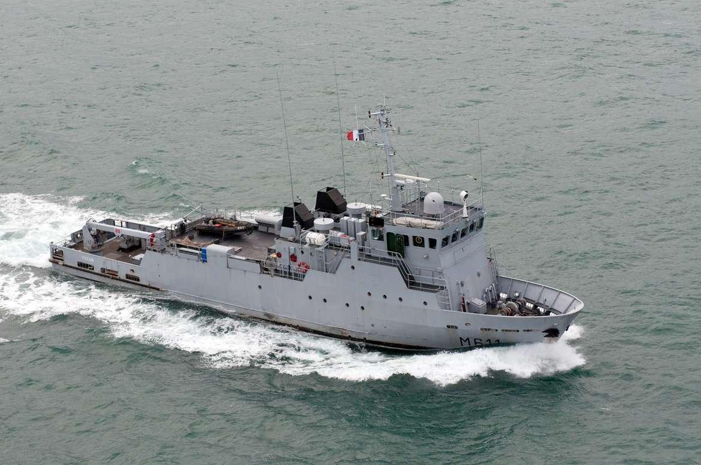 Le BBPD Vulcain (M611) est un bâtiment-base de plongeurs démineurs (BBPD) de la Marine nationale française. Il est basé à Cherbourg et affecté au 1er groupement de plongeurs démineurs (GPD) (Photo : Défense)
