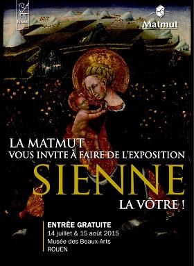 Exposition Sienne au Musée des Beaux-Arts à Rouen : visites gratuites mardi 14 juillet