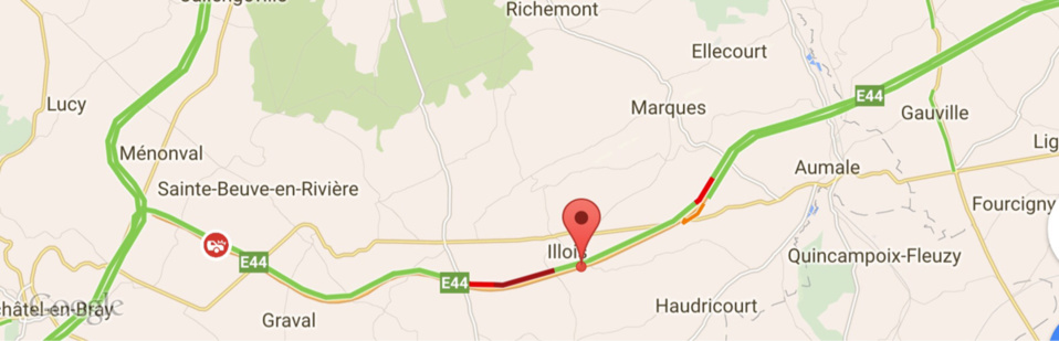 Accident de poids-lourds : l'A29 coupée en direction d'Amiens