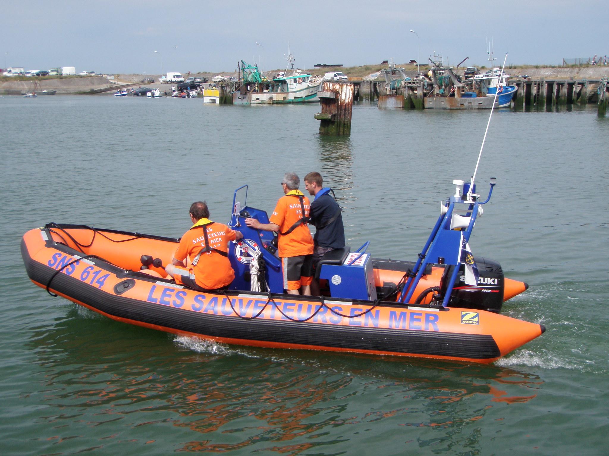 L'embarcation semi-rigide des sauveteurs en mer de la SNSM de Ouistreham ont participé aux recherches (Photo d'illustration)