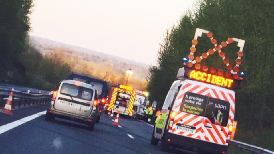 InfoRoute. Bouchon de 6 km sur l'A150 près de Rouen (accident)