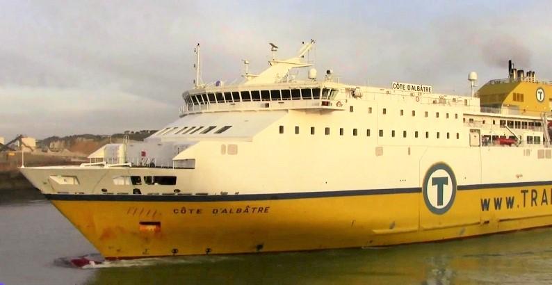 Le ferry Côte d'Albâtre assure les liaisons quotidiennes entre Dieppe et Newhaven (Photo @DR)
