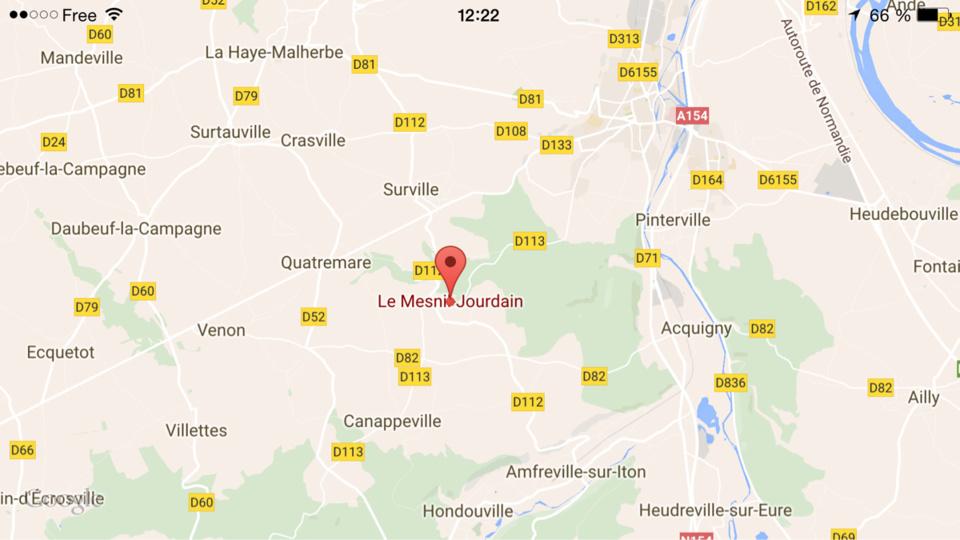 Eure : une résidence secondaire détruite par le feu cette nuit au Mesnil-Jourdain