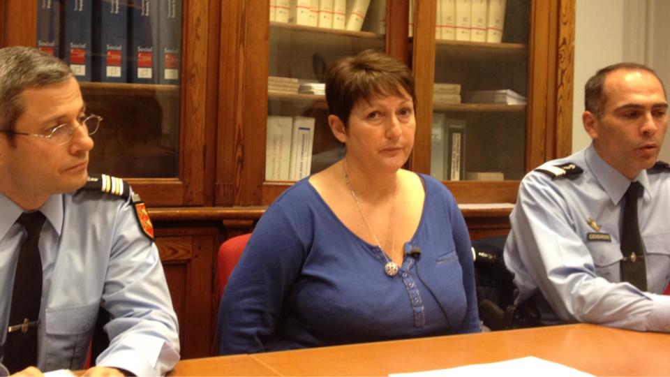 Dominique Laurens (ici lors d'une conférence de presse) est nommée à Meaux, en Seine-et-Marne.