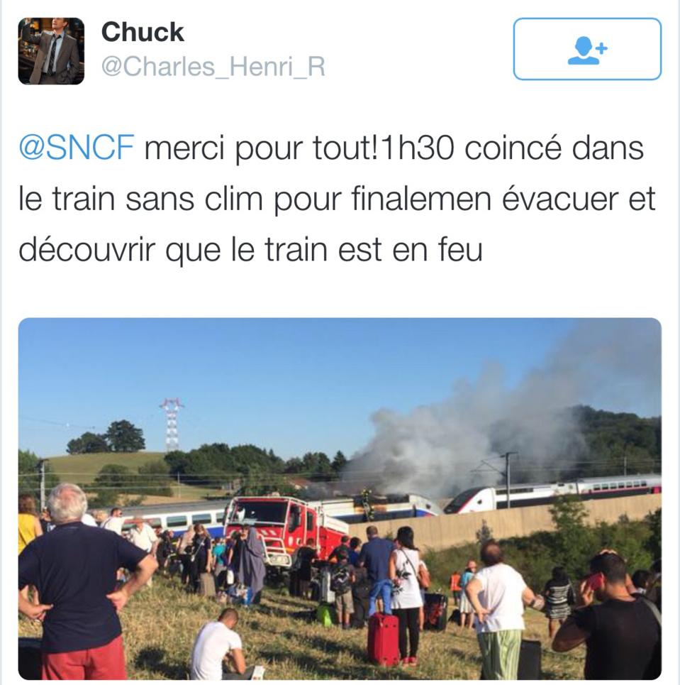 Feu de TGV sur la ligne Marseille - Paris : le préfet de police active le plan PEGASE