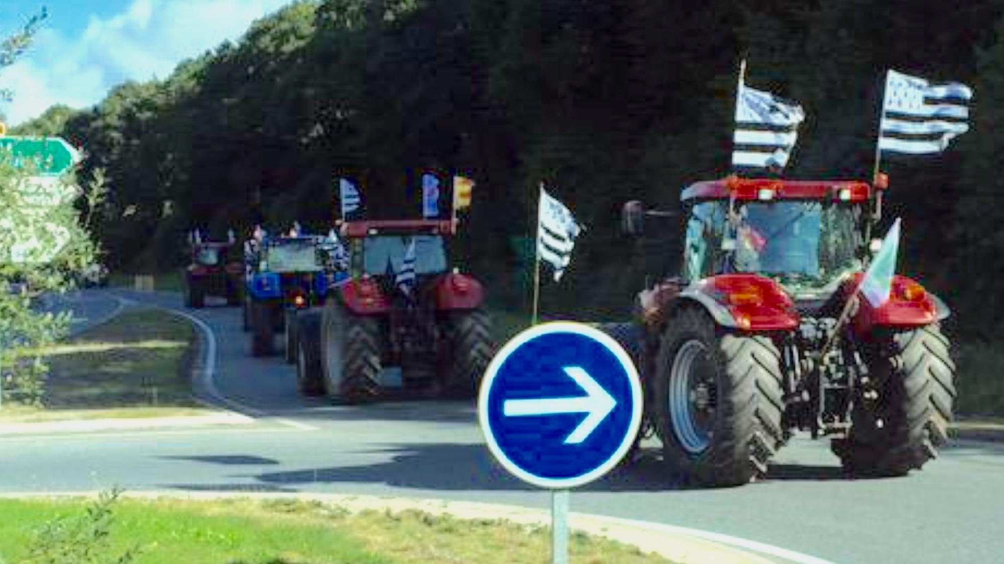 Les agriculteurs bretons ont pris la route ce mardi matin. Ils traverseront l'Eure demain mercredi pour rejoindre Paris