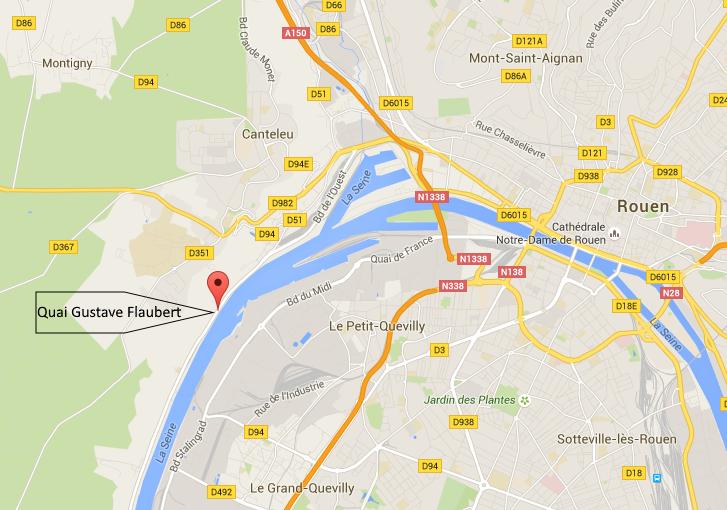 Le cadavre d'un homme repêché en Seine, quai Gustave Flaubert à Rouen