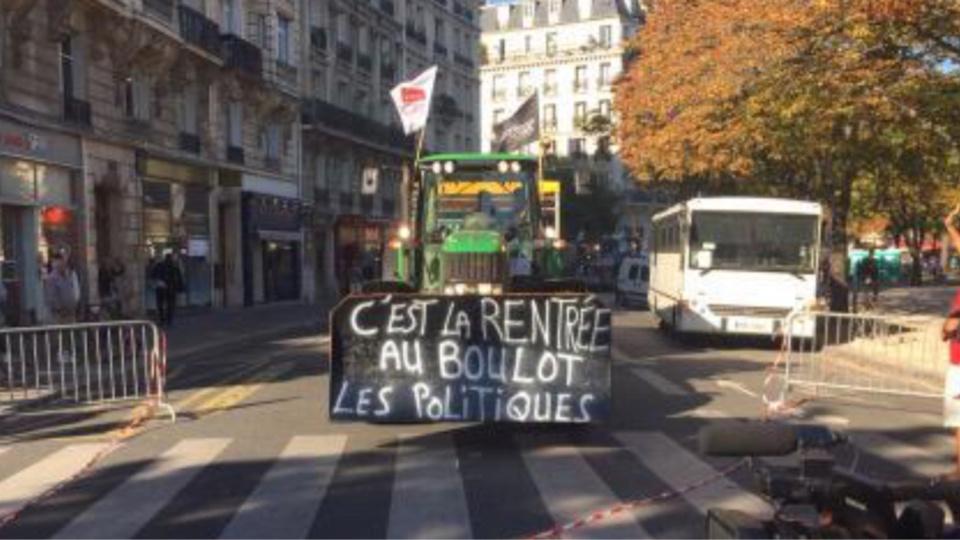 Les tracteurs sont dans Paris !