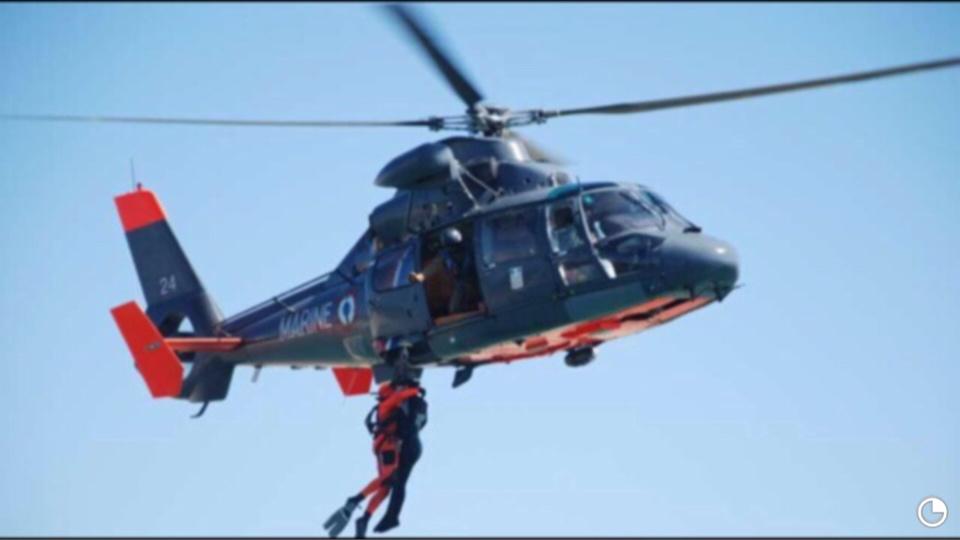 Évacuation médicale d'un marin au large de Jobourg