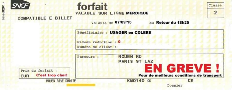 Usagers en colère : grève des billets aujourd'hui sur la ligne Le Havre - Rouen - Paris