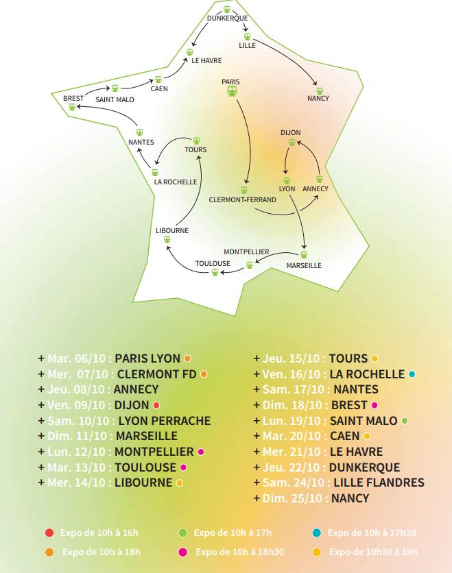 Le Train du Climat s'arrêtera à Caen et au Havre, les 20 et 21 octobre