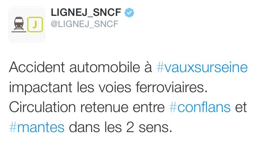 Une fourgonnette dévale sur les voies : trafic des trains perturbé entre Vernon et Paris ce matin