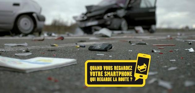 Une des nombreuses affiches de la sécurité routière destinées à sensibiliser les conducteurs