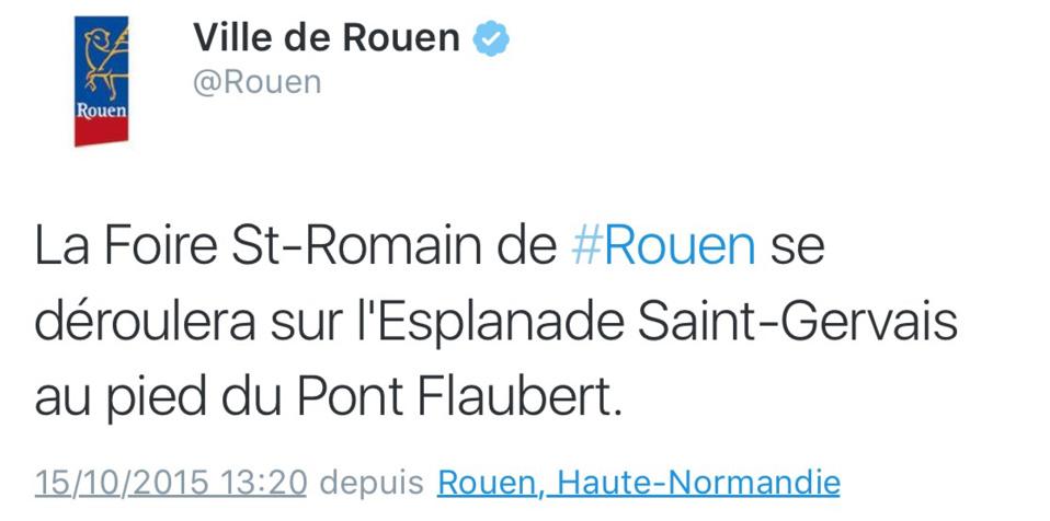 Foire Saint-Romain de Rouen : accord conclu, ce sera l'esplanade Saint-Gervais !