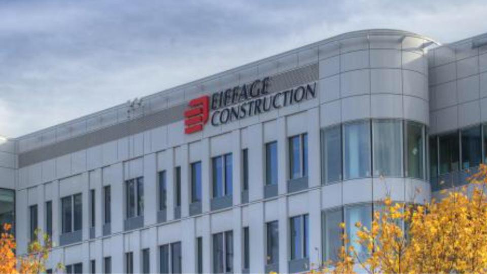 Le siège social de Eiffage à Vélizy-Villacoublay