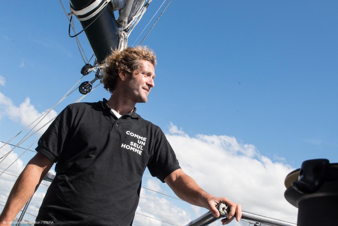 Eric Bellion lors du Vendée Globe    (Photo@Mathilde Adrien Babillon / TREPIA)