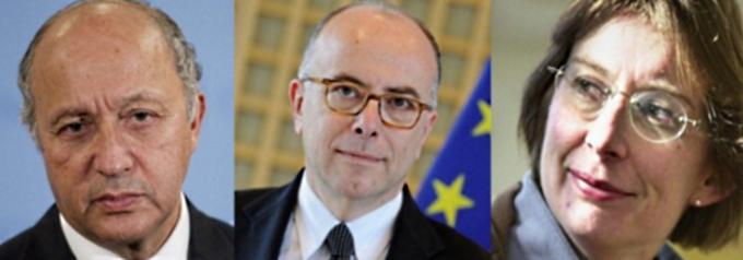 Bernard Cazeneuve (au centre) sera accompagné de Laurent Fabius, ministre des Affaires étrangères et de Clotilde Valter, secrétaire d'Etat chargée de la Réforme de l'Etat et de la Simplification (Photos@DR)