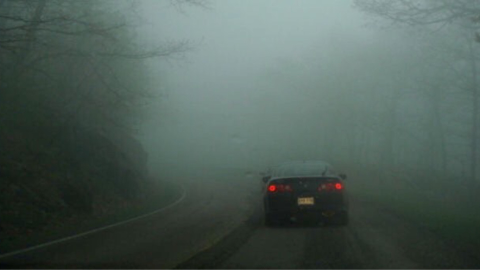 Par temps de brouillard, il convient d'adapter sa vitesse aux conditions de visibilité
